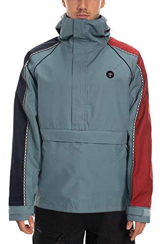 686 Men's Catchit Insulated Anorak Jacket - Waterproof Ski/Snowboard Winter Coat, Goblin Blue, Large