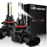 Paire Ampoules de phares avant de voiture à LED 9005 / HB3 Led lumière de voiture 60W 12000Lumens Phares étanches super lumineux Conversion Température de couleur 6500K IP65 COB