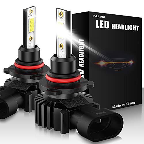 Bombillas de faros LED 9005 / HB3 Led Luz de coche 60W 12000 lúmenes Súper brillante Impermeable Faros Conversión Temperatura de color 6500K IP65 Paquete de 2