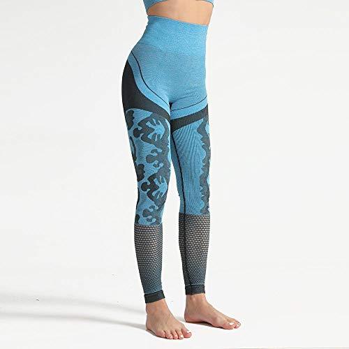 Stretchy legging met hoge taille voor meisjes,Hoge sterkte skinny trainingsbroek, hippe broek yogabroek-Blue_S,Stretch Gym Workout Running Legging