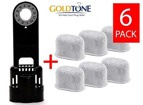 GoldTone Brand 6 Carbon Water Filters + Water Filter Holder. Replaces your Keurig 1.0 Filter Holder + Keurig Charcoal Water Filter & Breville Carbon Water Filter + Breville Filter Holder