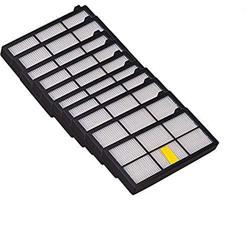 OxoxO - Filtros de Repuesto HEPA para iRobot Roomba 800 900 Series 805 860 870 871 880 890 960 980 Robotic Vacuum, 10 Unidades