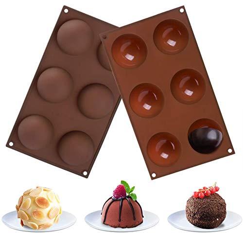 Hoepaid HotChocolateBomb Mold, Cake, Jelly, Pudding, Silicone Chocolate Mold Non Stick, SiliconeMold for Baking (2 pcs)