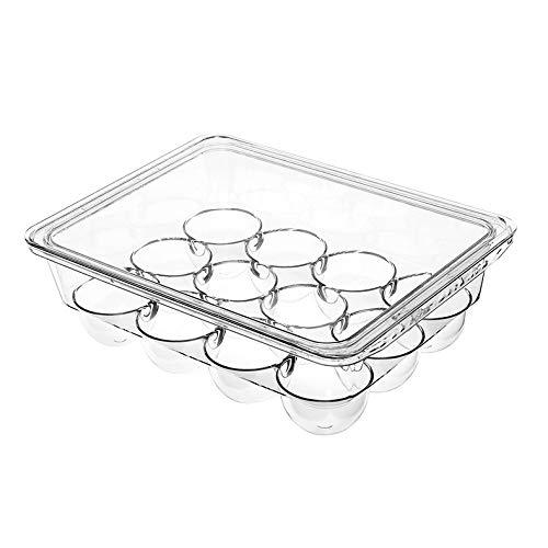 WZHZJ Egg Box Kühlschrank Home Küche Ei-Behälter Ei-Behälter Ei Regal Frisch...