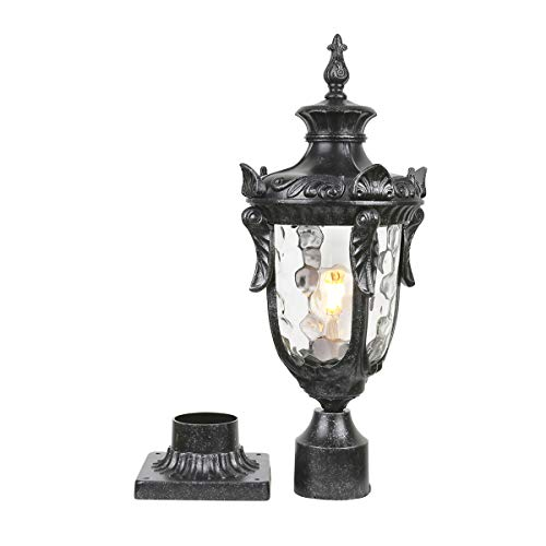 Goalplus Outdoor Post Lamp with Pier Mount for Yard 1-Light 60W E26 Post Light Fixture 21