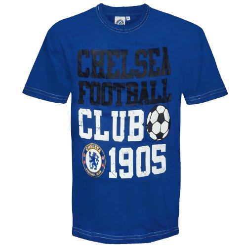 Chelsea FC - Camiseta Oficial para niños - con Texto Serigrafiado - Azul Marino - 2-3 años
