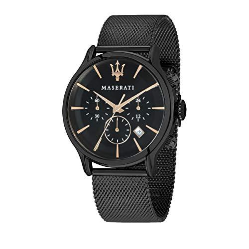 Orologio da uomo, Collezione Epoca, movimento al quarzo, cronografo, in acciaio e PVD nero - R8873618006