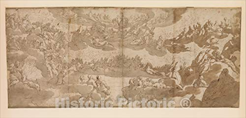 Historic Pictoric Art Print : After Jacopo Tintoretto (Jacopo Robusti) - Paradise : Vintage Wall Décor : 24in x 12in
