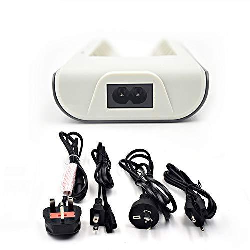 Morran Cargador De Pilas 8 Ranuras, Cargador Pilas Recargables Inteligente para AA AAA Ni-mh Ni-CD Baterías con Puerto USB (A)
