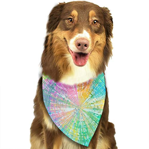 Cirkels Kleurrijke Pijlen Rotatie Behang Hond Kattenhalsdoek Set Geschikt voor Kleine tot Grote Hond Katten