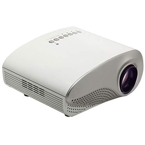 Wangchengtyy Proyector LED True Color Portable HD, Potencia 50w, Voltaje 12V, Resolución 480 × 320P, Adecuado para Cine en casa, películas y Videojuegos