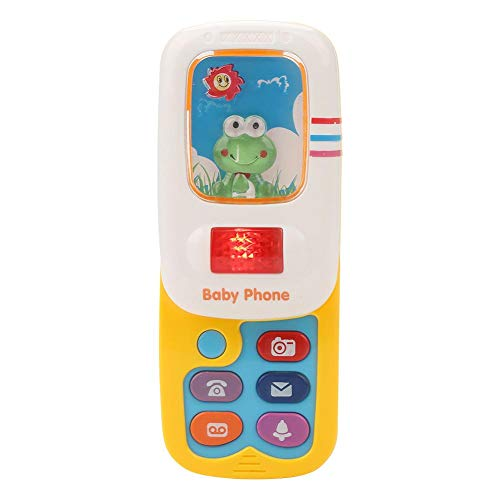 Juguete musical con simulación de teléfono,simulación de juguete para niños ligeros (batería no incluida),Mando a distancia juguete electrónico bebé
