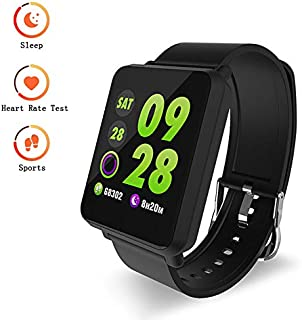 FSYCQ Fitness Tracker, Smart Watch with Blood Pressure/Oxygen Monitor, Waterproof Fitness Watch, Big Color Screen Activity Watch with Continuous Heart Rate Sleep Monitor for Kids Women Men