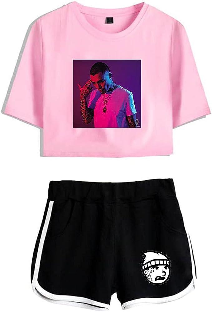 Tydres Gera MX 2 Piece Sets Hip Hop Short Sleeve Suit Womens Girl Set Casual Accessories Fashion Suit (PB-YM00721,XL)