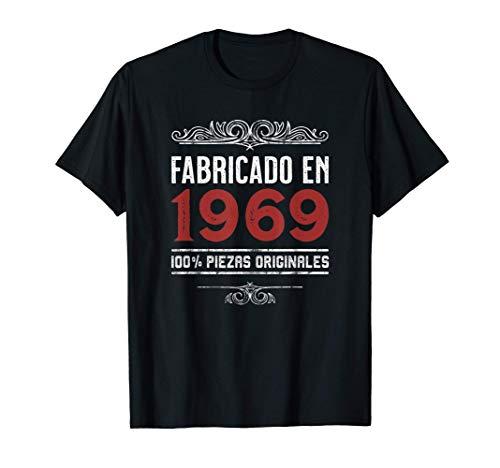 Hombre Fabricado En 1969 100% Piezas Originales Cumpleaños Camiseta