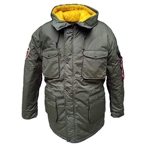 Alpha Mountain All Weather Jacket - Winterjacke Kapuze Nylon, Größe:XL, Farbe:Dark Green