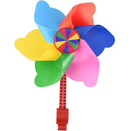 Fahrrad-Windmühle Windspiel Kinder Fahrrad Lenker Blume Pinwheel für Alle Fahrräder, Roller, Dreiräder, Laufräder, Kinderwagen und Buggys