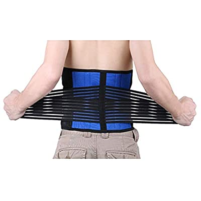 EagleUS Deluxe Neoprene Double Pull Lumbar Lower Back Support Brace Exercise Belt