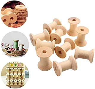Hot Sale 10Pcs Vintage Style Wooden Bobbins Thread Spools Reels For Sewing Ribbons Twine Crafts
