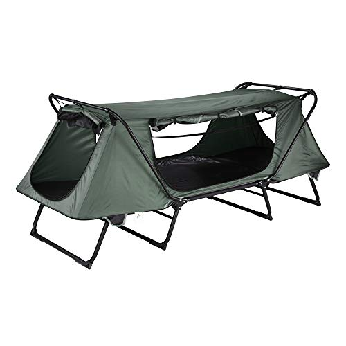Instahibit 1 Person Portable Folding Ground Camping Tent Waterproof Outdoor Hiking Sleeping Bed Mesh...