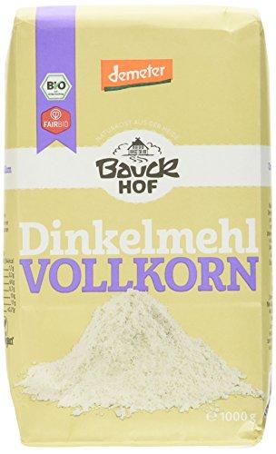 Bauckhof Dinkelmehl Vollkorn Demeter, 4er Pack (4 x 1 kg)