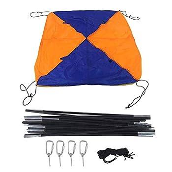 4-5 personnes Bateau pneumatique Parasol gonflable Voile Auvent Auvent Toit Toit de pêche Tente de pêche Imperméable en caoutchouc Pliable Tente de bateau Tente à voile