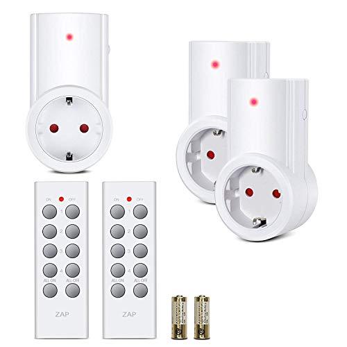 Etekcity Enchufes Inalámbricos Inteligentes con Mando a Distancia con Control Remoto Interruptores...