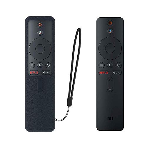 SIKAI CASE Ajusta Proteger el Mando Compatible con Xiaomi TV Box S/Xiaomi Mi TV Stick Control Remoto, Funda de Silicona Resistente a Golpes, Arañazos Shockproof Adapta,Protege de Caidas (Negro)