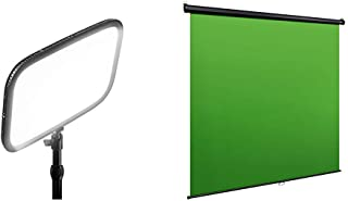 Elgato Key Light Panel LED de Estudio Profesional con 2800 Lúmenes + Green Screen MT Panel Chromakey colgable, Bloqueo y replegado automáticos