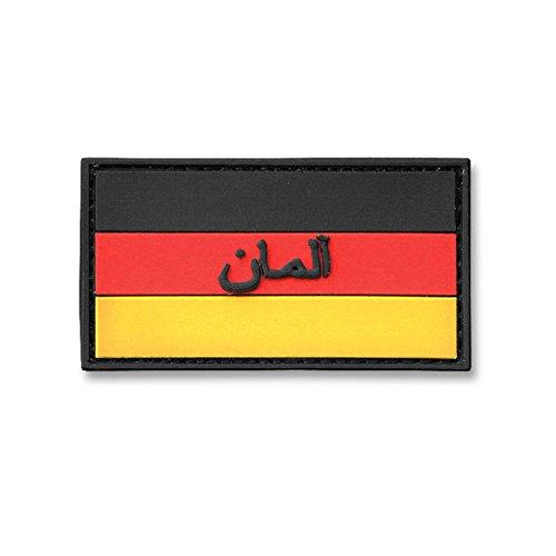 Copytec 3-D Rubber Patch Deutschlandflagge Bundeswehr ISAF Deutschland DEU Arabisch PVC Klett Aufnäher Uniform Auslandseinsatz Tactical Fahne KSK (3x5,5cm)