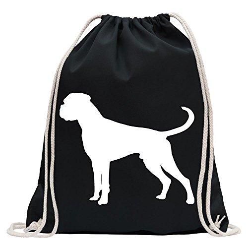 Kiwistar - Deutscher Boxer German Hund Turnbeutel Fun Rucksack Sport Beutel Gymsack Baumwolle mit Ziehgurt