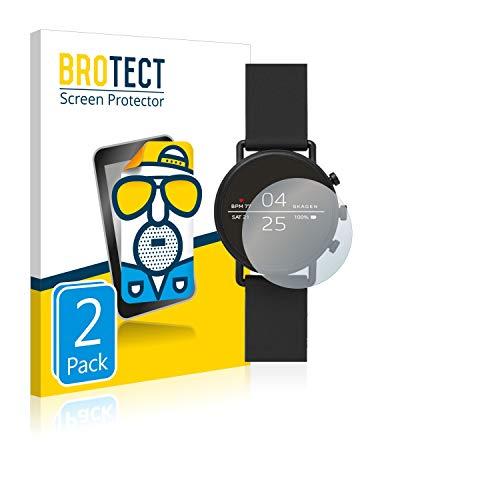 BROTECT 2X Entspiegelungs-Schutzfolie kompatibel mit Skagen Smartwatch Falster 2 Bildschirmschutz-Folie Matt, Anti-Reflex, Anti-Fingerprint