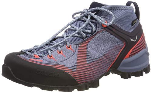 Salewa WS Mountain Trainer Gore-TEX, Chaussures de trekking et de randonnée Femme, Gris (Charcoal/Blue Fog), 38 EU