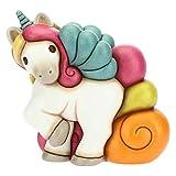 THUN - Soprammobile Unicorno Galoppante Multicolore - Accessori per la Casa - Linea Unicorno - Formato Grande - Ceramica - 17,8 x 10,5 x 18 h cm