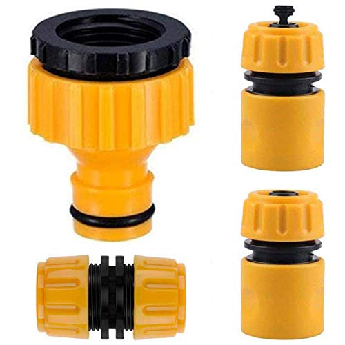 YiRAN 4Pack Plastic Garden Hose Fitting Set Pipe Tap Connector Kit, a 1/2'...