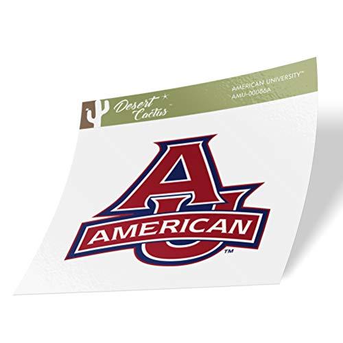 American University AU Eagles NCAA Vinyl Decal Laptop Water Bottle Car Scrapbook (Sticker - 00086A)