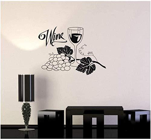 Etiqueta de la pared del alcohol del vidrio de la uva del vino etiqueta de la pared del vinilo impermeable la barra de bebidas la cocina papel pintado del diseño del hogar 28X42Cm