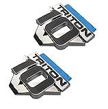 2 Pack V10 Triton Emblems 3D Badge Stickers 3D Logo Compatible for F Series Trucks (Black Chrome)