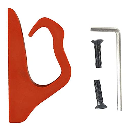 FeelMeet Multifuncional Perching Gadget Bolsa de Gadget Glaw Hook Frente Scooter eléctrico Gancho Delantero Gadget Bag Hanger Compatible con Xiaomi MIJIA M365 / M187 / Pro Red
