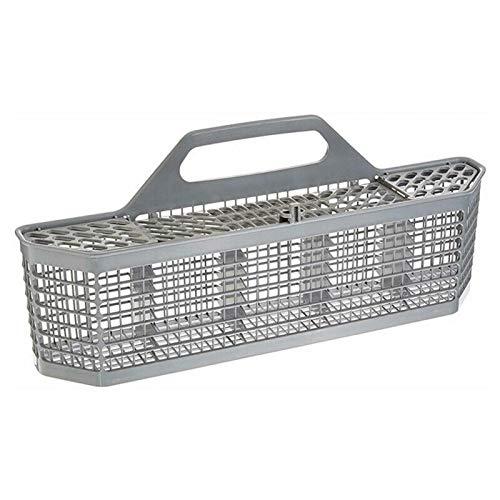 DSFSAEG Cesta de cubiertos para lavaplatos, cesta de cubiertos con mango, accesorio universal desmontable para lavavajillas