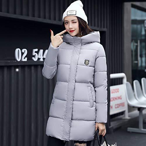 WFSDKN winterjas voor dames met capuchon van katoen bekleed in de stijl
