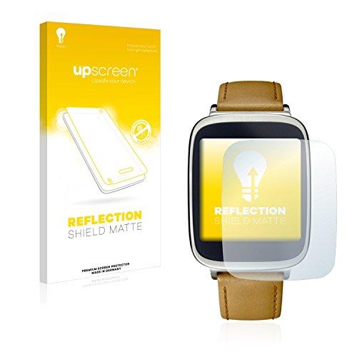 upscreen Entspiegelungs-Schutzfolie kompatibel mit Asus ZenWatch WI500Q – Anti-Reflex Bildschirmschutz-Folie Matt