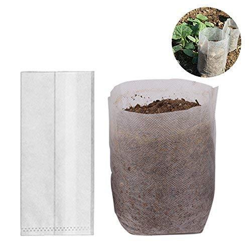 Benail Lot de 200 sacs biodégradables non tissés pour pépinière de plantes Taille : 12 x 15 cm