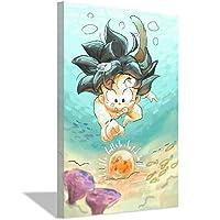 Wukongキャンバスアートプリント壁画アート絵画子供部屋の装飾ポスター絵画キャンバス壁アート50x70cm(20x28inch)フレームなし