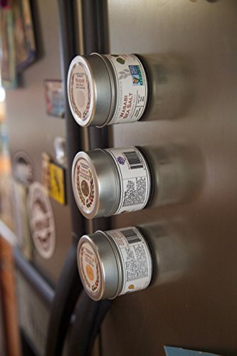 Set of 20 Magnetic Tins | Sift and Pour Lid | Spice Tins or Small Object Storage | 4oz. Volume | #P3