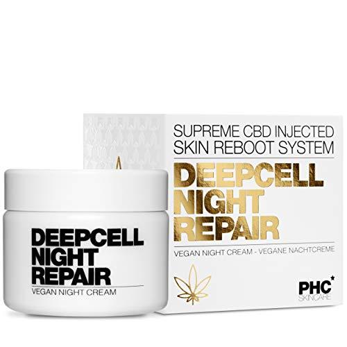 EINFÜHRUNGSPREIS: Deepcell Night Repair - CBD Nachtcreme - von Dermatest mit SEHR GUT bewertet - klinisch bewiesener Anti Aging Effekt für Gesicht, Haut - Vegan für Frauen & Männer