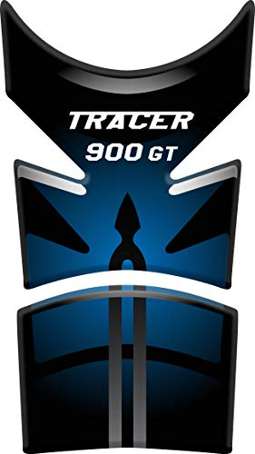 Tankpad Motorad Draht Muster Tankschutz Polymer KOMPATIBEL Yamaha Tracer 900 GT (Light Blue/Black)