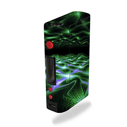 MightySkins Skin Compatible with Kanger KBOX 200W – Green Waves | Protective, Durable, and Unique Vinyl Decal wrap Cover | Easy to Apply, Remove, and Change Styles | Made in The USA