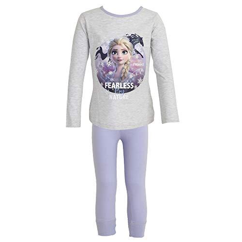 Disney Frozen 2 Kinder/Mädchen Fearless by Nature Pyjama Set (4-5 Jahre (104)) (Grau/Violett)