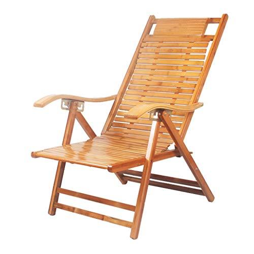 Chaise Longue Pliante Chaise Longue Fauteuil Relax Fauteuil réglable à Dossier Haut Fauteuil de Repos pour Personnes âgées Fauteuil Paresseux (Couleur : A)